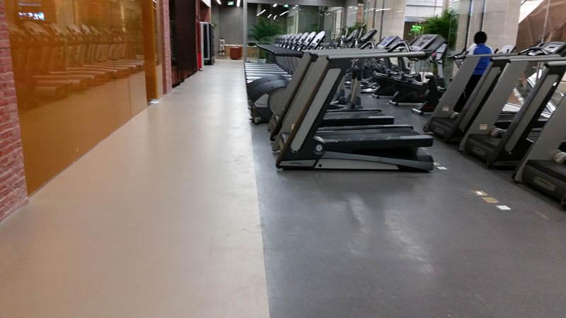 北京华体健身大巨龙橡胶地板案例
