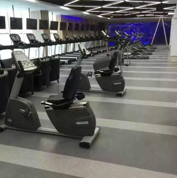 北京某健身会所采用大巨龙pvc地板